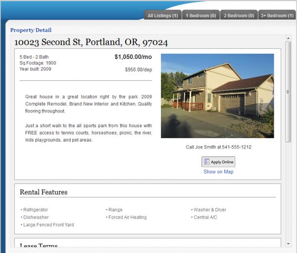Rentals Listings