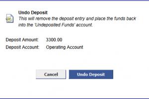 Undo Deposit Entries – Fixing Mistakes