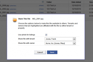 Share Files and Documents with Owners and Tenants