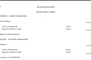 Automatic Bank Reconciliation Reports
