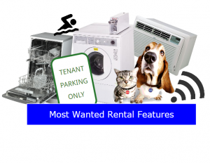 Most desirable rental features