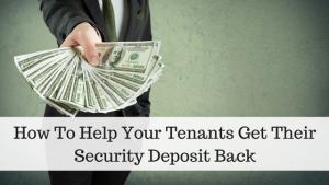 Security Deposit Back