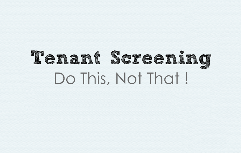 Dos and Don'ts of Tenant Screening – Infographic