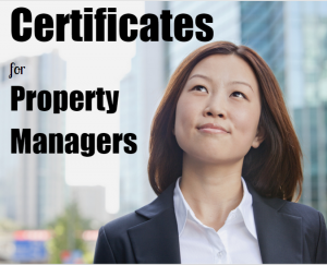 Certificates for Property Managers