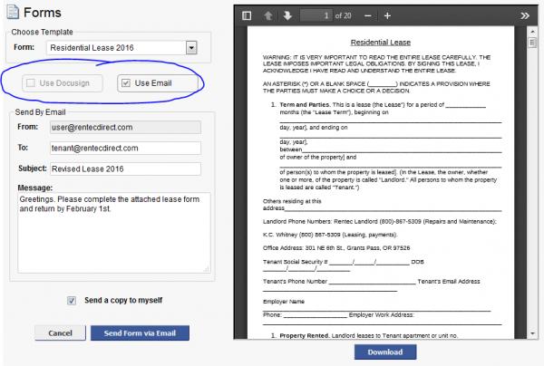 custom forms editor customer feedback rentec direct. Black Bedroom Furniture Sets. Home Design Ideas