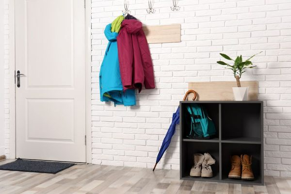 closetless rental entryway