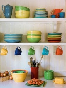 Display Dishware on Shelves