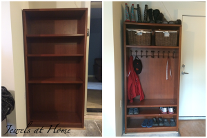 Bookshelf Mudroom
