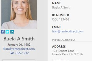 New Rental Application – Includes Applicant Photos