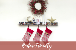 Damage-Free Decorating: DIY Faux Holiday Mantel