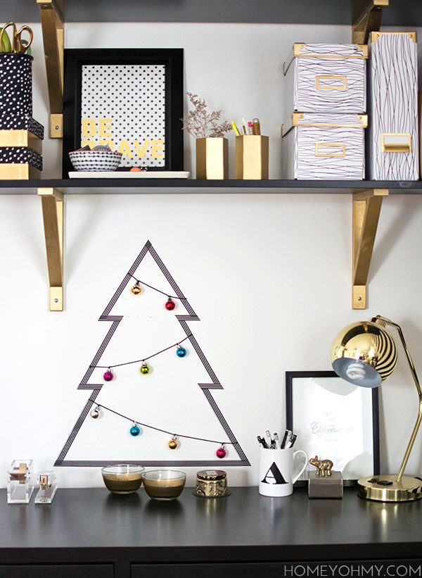 Washi-tape Christmas tree