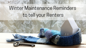 winter maintenance reminders