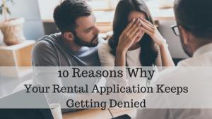 rental application was denied