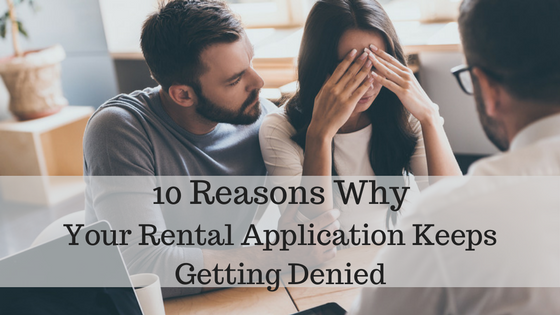 rental application was denied