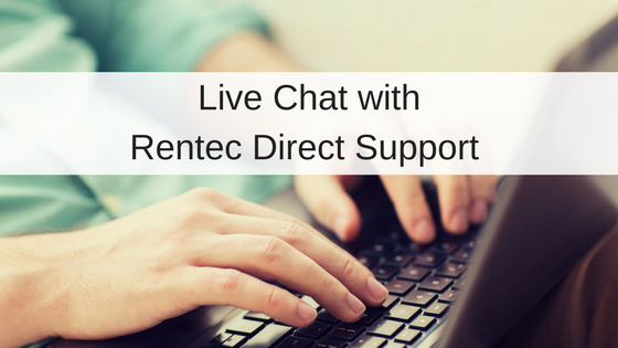 Live Chat With Your Rentec Client Support Team