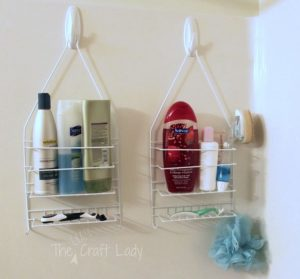 shower caddy with command hooks