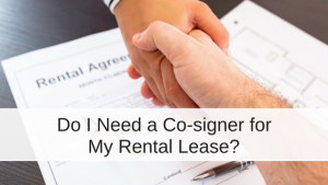 Co-sign a rental lease