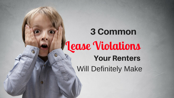 3 Common Lease Violations Your Renters Will Definitely Make