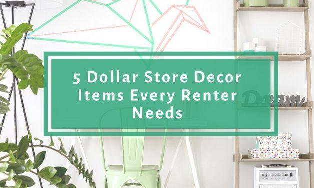 5 Dollar Store Decor Items Every Renter Needs