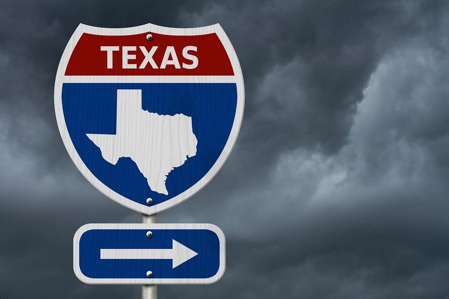 Texas flood damage