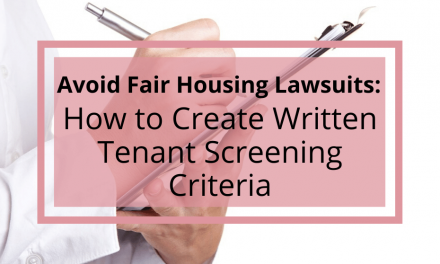 How to Create Written Tenant Screening Criteria