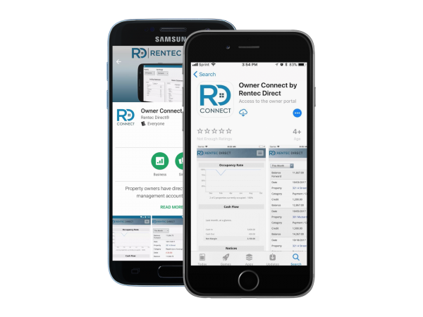 Owner Connect by Rentec Direct mobile app