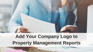 Company logos on property management reports