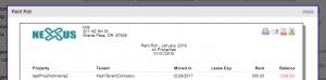 Logo and company info custom reports rentec