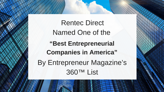 Rentec Direct on Entrepreneur 360™ List from Entrepreneur Magazine