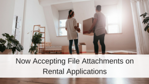 attach files to rental applications