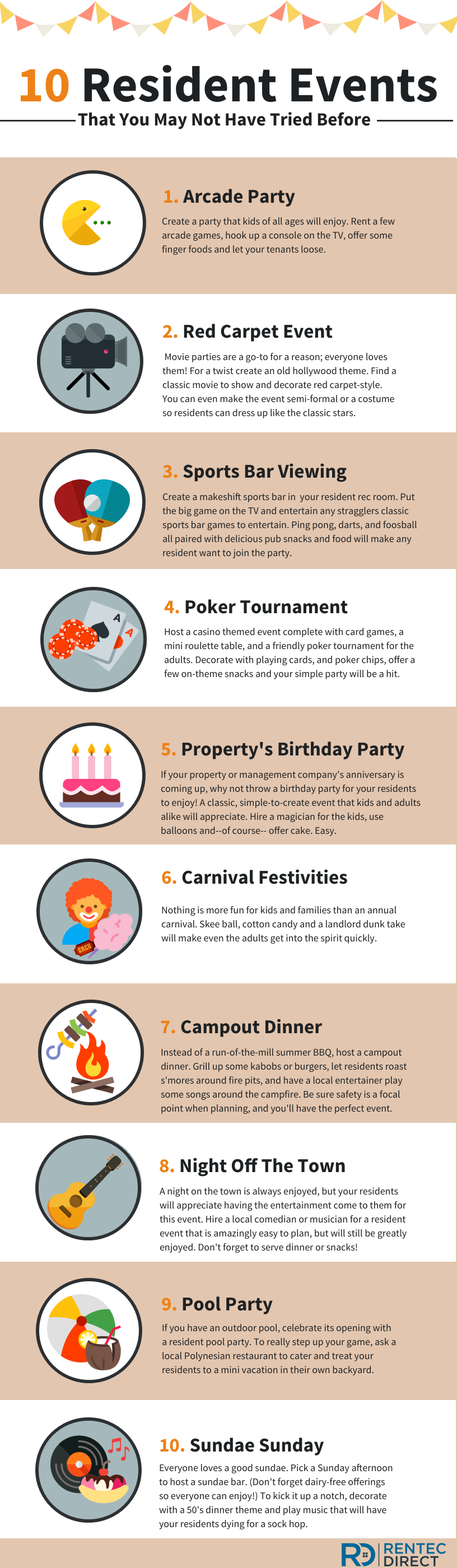 10 Resident Event Ideas That You May Not Have Tried Before Infographic