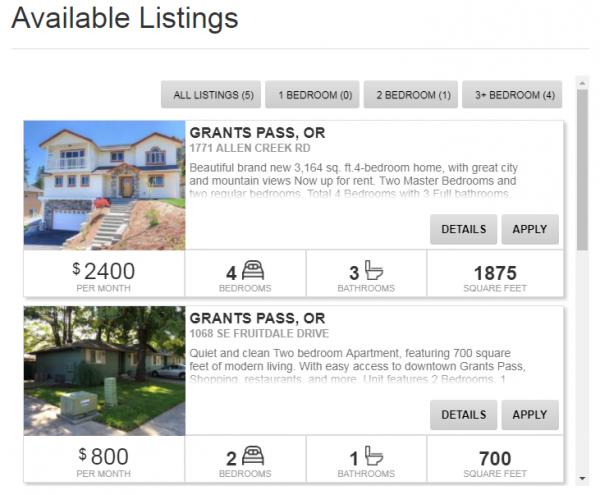 Rental Property Listings