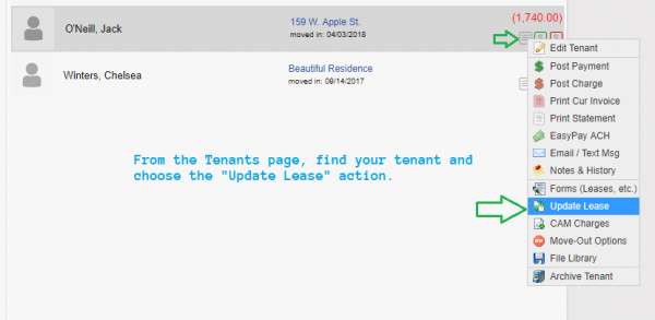 Double Checking Automatic Rent Escalation Settings