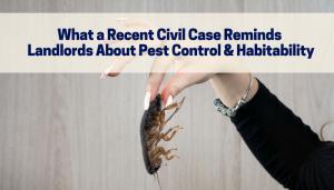 Pest Control and Habitability