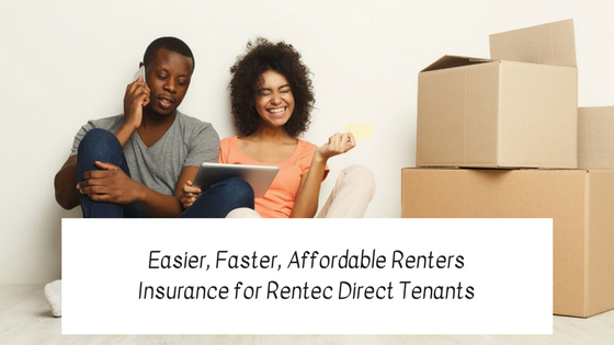 Easier, Faster, Affordable Renters Insurance Coverage for Rentec Direct Tenants