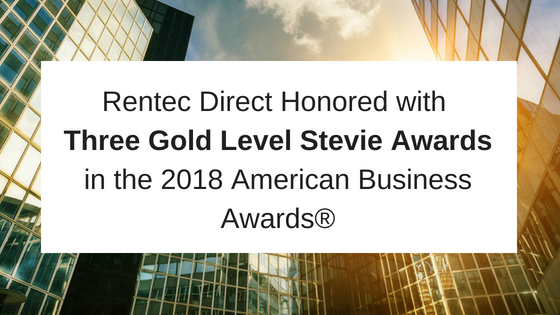 Gold level stevie award Rentec Direct