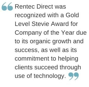 stevie award rentec direct pull quote