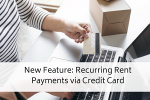 Recurring Rent Payments via Credit Card – New Feature