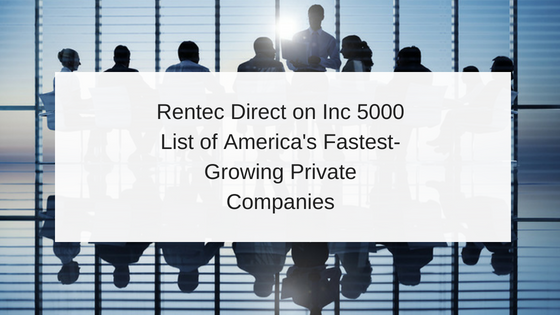 Rentec Direct on Inc 5000 List of America's Fastest-Growing Private Companies