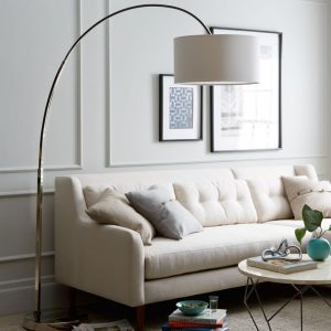 large arc floor lamp
