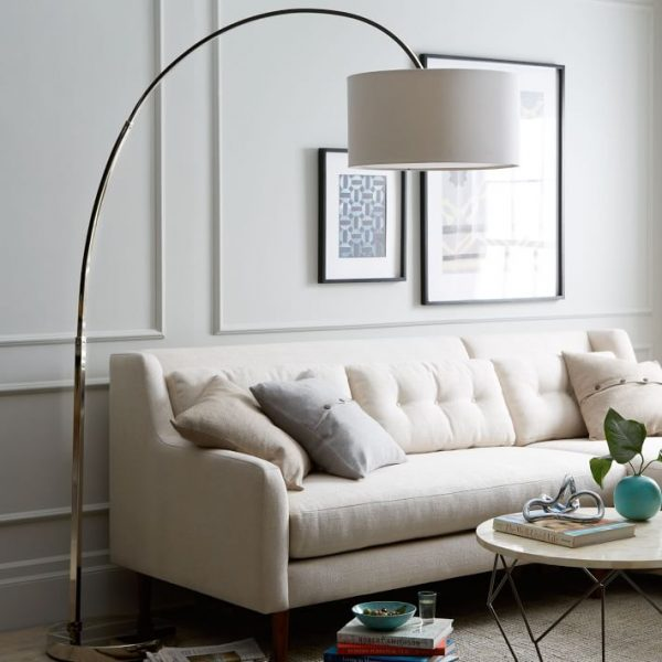 large arc floor lamp