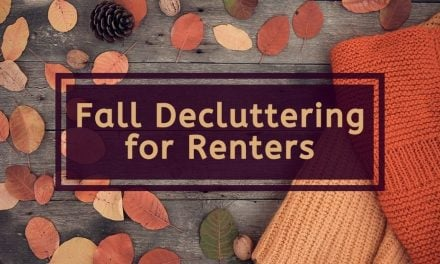 Fall Decluttering for Renters