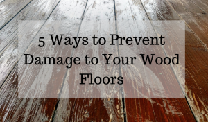 damage to wood floors