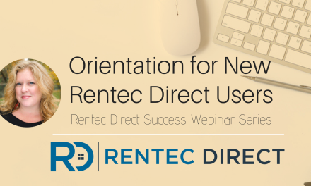 Webinar Recap: Orientation for New Rentec Direct Users