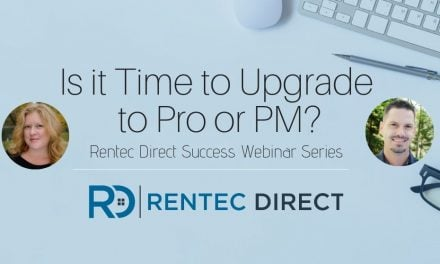 Webinar Recap: Is it Time to Upgrade to Rentec Pro or PM?