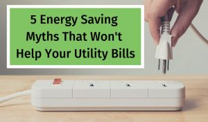 savings on a utility bill