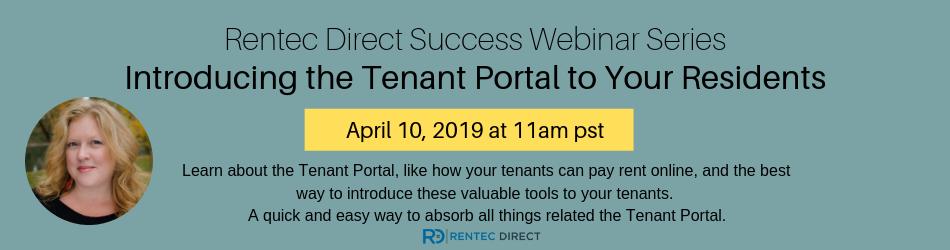 Intro to Tenant Portal Webinar