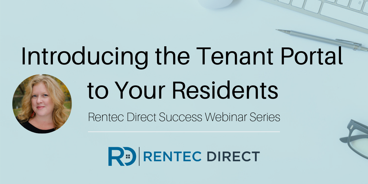 Webinar Recap: Introducing the Tenant Portal to Your Residents