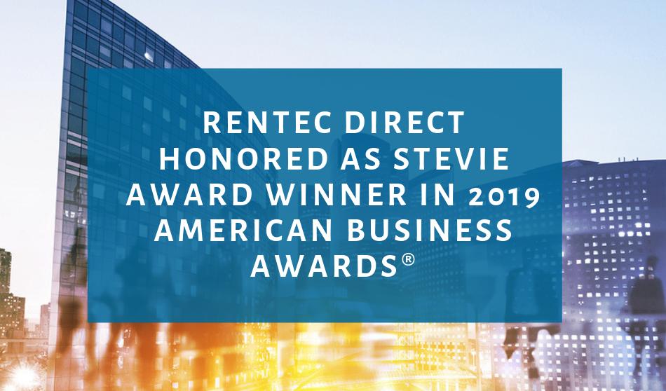 Rentec Direct Honored as Stevie Award Winner in 2019 American Business Awards®