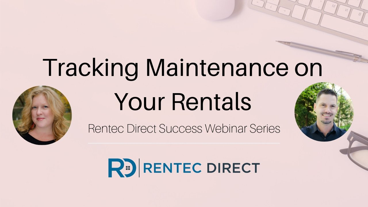 tracking maintenance on your rentals